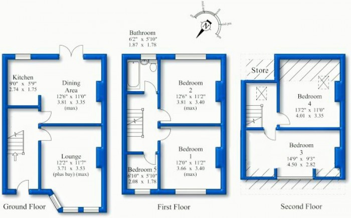 Floorplans For Ferndale Road, Hoylake, Wirral