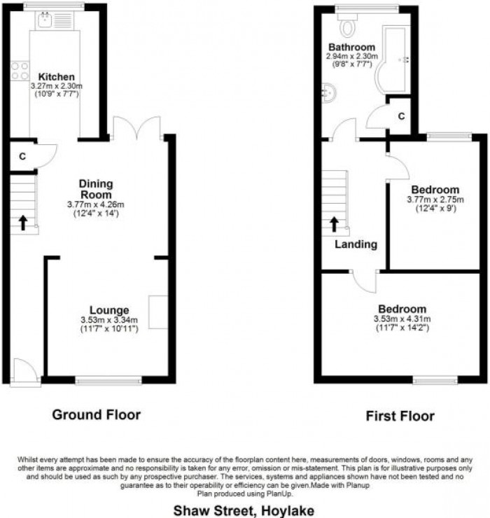Floorplans For Shaw Street, Hoylake, Wirral