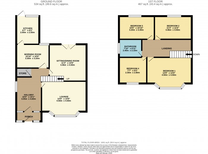 Floorplans For Princesway, Wallasey