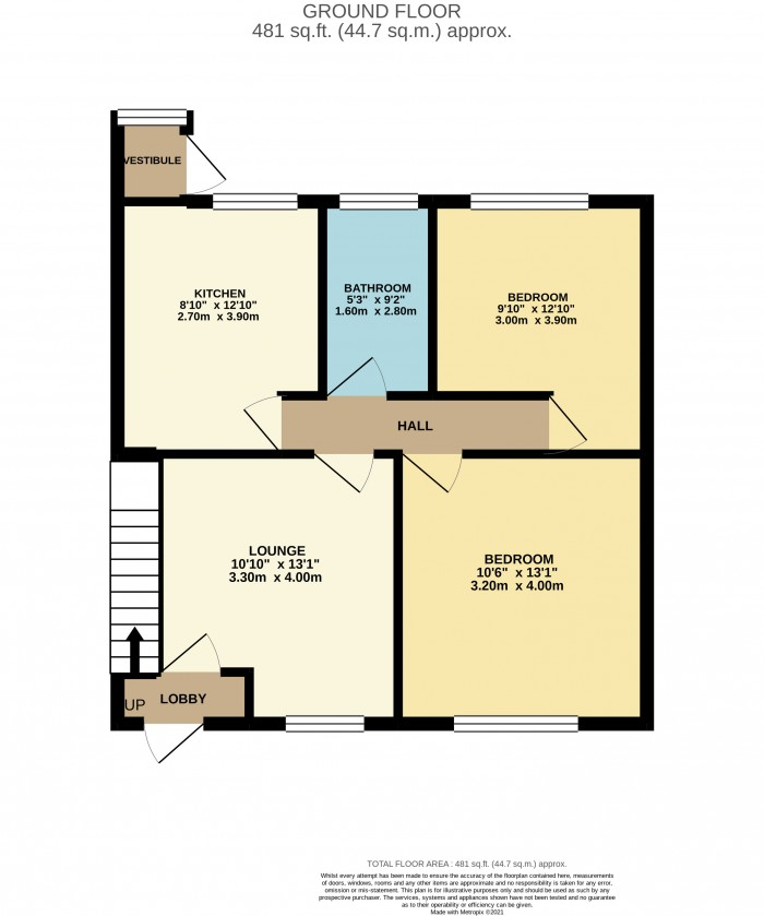 Floorplans For Back Seaview, Wirral